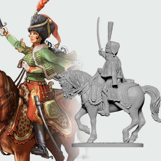 Victoria the French Hussar (28 mm)