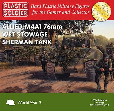 1/72: Sherman M4A1 76mm Wet Tank (3)