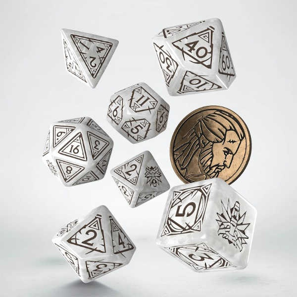 The Witcher Dice Set. Geralt - The White Wolf (7)