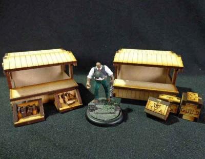 Wooden Market Stalls