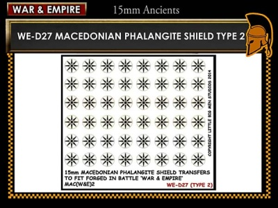 Macedonian Pikemen shield transfer  TYPE 2