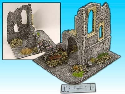 Geländestück Kirchenruine (1:72)