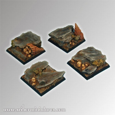 Rocky 40mm square bases (2)