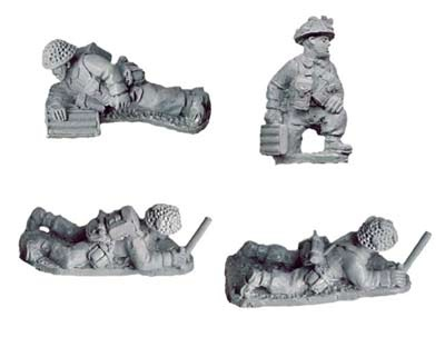 "Late British 2"" Mortar Teams (4 figs)"