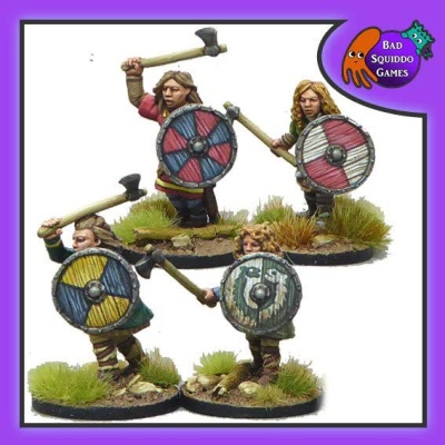 Shieldmaiden Warriors with Axes (4)