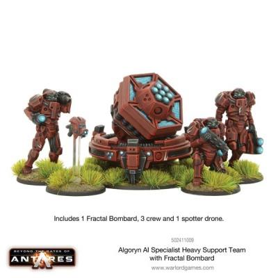 Algoryn AI Specialist Heavy Support Team w Fractal Bombard