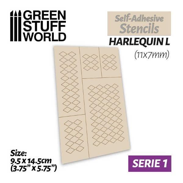 Self-adhesive stencils - HARLEQUIN L (11x7mm)