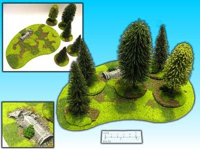 Geländestück Wald 6-teilig