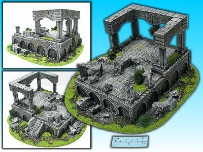 Geländestück Säulenhalle