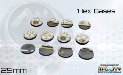 Hex Bases - 25mm round (12)