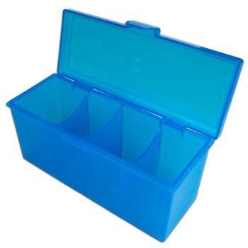 Blackfire 4-Compartment Storage Box - Blue