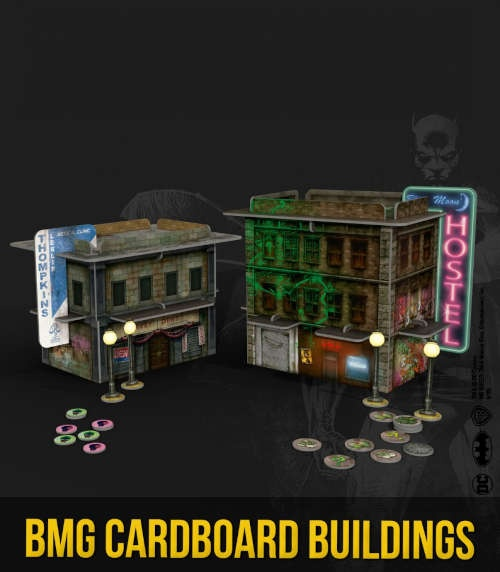 batman Miniatures Game: Cardboard Buildings