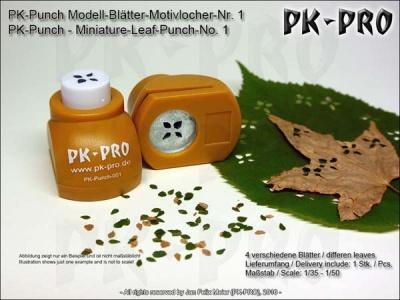 PK-Punch - Modell-Blätter-Motivlocher-Nr. 1 (4xBlätterMix)