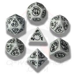 Gray & Black Dragons Dice (7)
