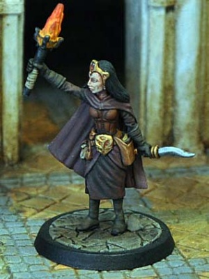 Female Magic User in Robes