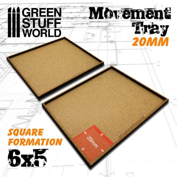MDF Movement Trays 20mm 6x5