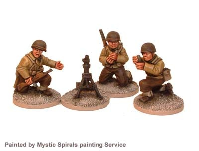 US Inf. 60mm Mortar & Crew (3, 1 mortar)