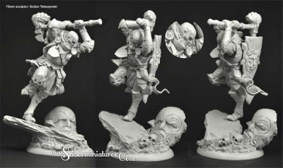 Knight 75mm figure total height 115mm