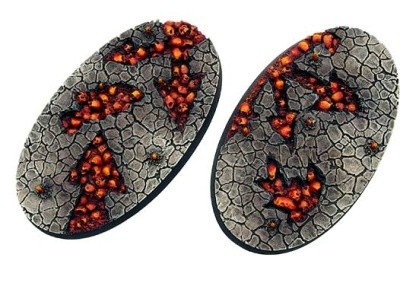 Chaos Waste Bases, Oval 90mm (2)