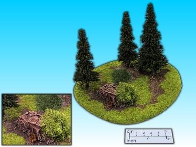 Geländestück Wald mit Geröll