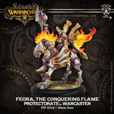 Protectorate Warcaster Feora, The Conquering Flame