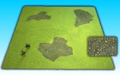 Grasfläche ''verbrannte Erde'' 50 x 50 cm