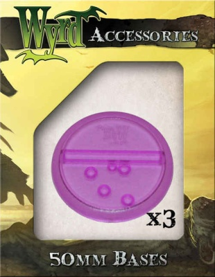 Purple Translucent Bases 50mm (3)