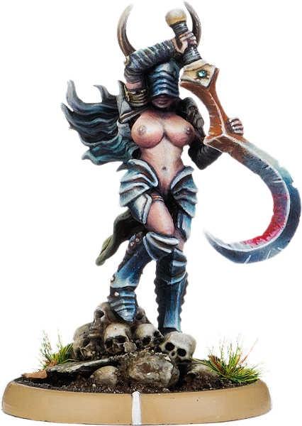 Sickle-Annik of Carn Wrach, Battle-Drune on Foot