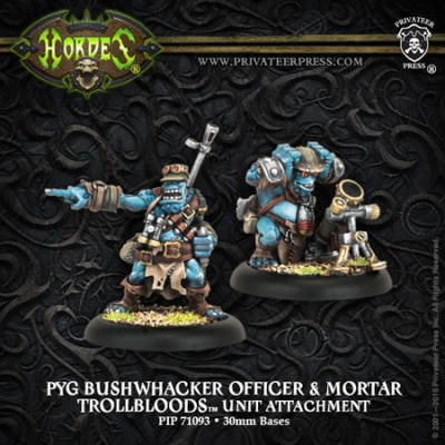 Trollblood Pyg Bushwhacker Officer & Mortar