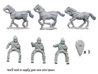 Light Cavalry with Spears (3 Cavalry Figures)