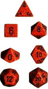 Chessex Fire SpeckledT 7-Die Set