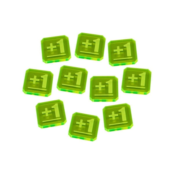 Plus One Tokens compatible with WHv9, Fluorescent Green (10)