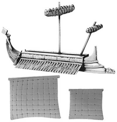 Phoenician Trireme (includes furled & set main an