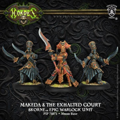 Skorne Makeda & The Exalted Court Epic Warlock Unit (3)