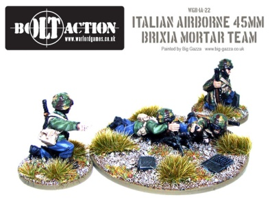 Italian Airborne 45mm Brixia Mortar Team (4)
