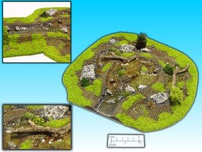 Geländestück Sumpf