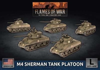 M4 Sherman Tank Platoon (Plastic)