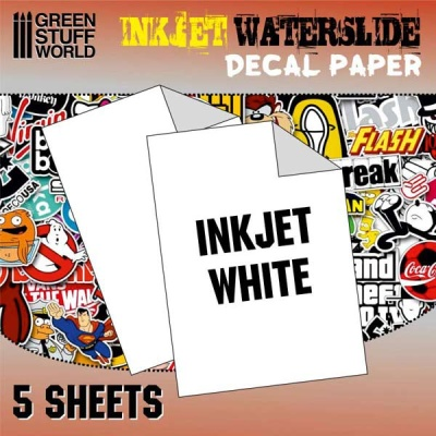 Waterslide Decals - Inkjet White