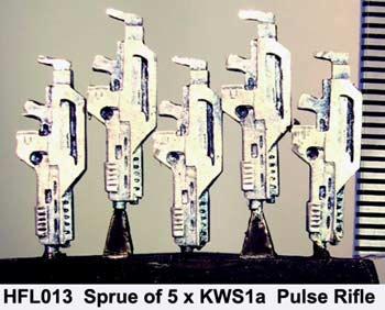 Sprue of 5 KWS1a Pulse rifles (5)