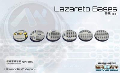 Lazareto Bases - 25mm round (12)