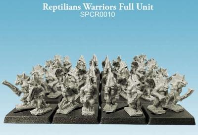 Reptilians Warriors Full Unit (10mm) (32)
