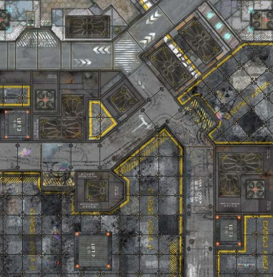 War Game Mat - 48x48inch - Warehouse