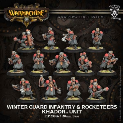 Khador Winter Guard Infantry Unit (13) Box (plastic)
