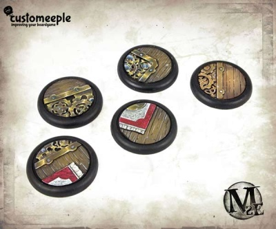 Malifaux Hoffman Lab base tops - 30mm (5)