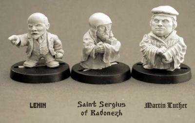 Lenin Vladimir Ilyich, St Sergius of Radonezh, Martin Luther