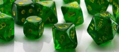 Borealis Maple Green/yellow Polyhedral 12mm d6 (36)