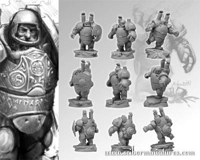 Dwarf Steam Players Set (3)