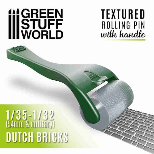Rolling pin with Handle - Dutch Bricks