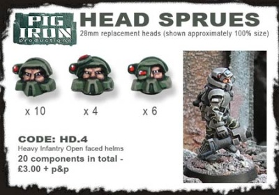 H. Inf. Open Helmet Sprues (20)