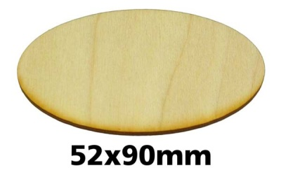 Oval Miniature Bases: 52x90 mm (1)